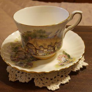 Royal Stafford Bone China Tea Cup & Saucer Cottage